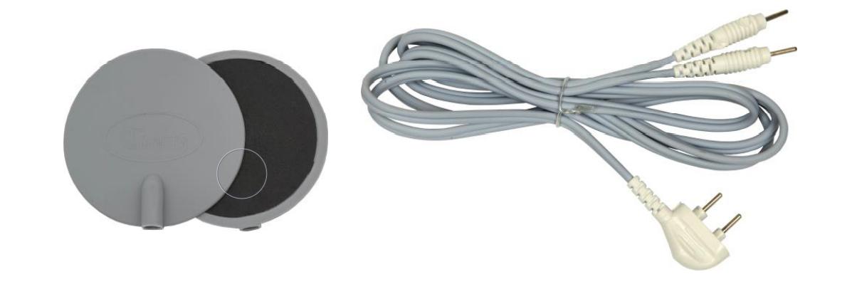 Кабель для подключения электродов и сами электроды для стимуляции - комплектующие аппарата АКФ-01