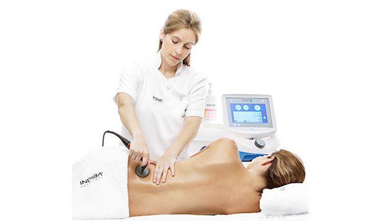 Применение аппарата Indiba Deep Care Elite NS на теле